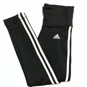 Adidas Three Stripe Black Leggings